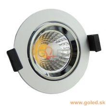 Prémium beépíthető fehér kör LED lámpa 8W
