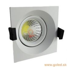 Prémium beépíthető fehér négyszög LED lámpa 8W