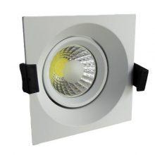Beépíthető fehér négyszög LED lámpa 8W
