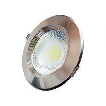 Beépíthető króm kör LED lámpa 10W INOX