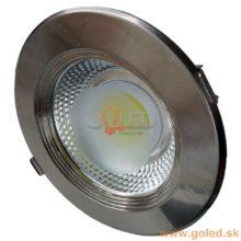 Prémium beépíthető króm kör LED lámpa INOX
