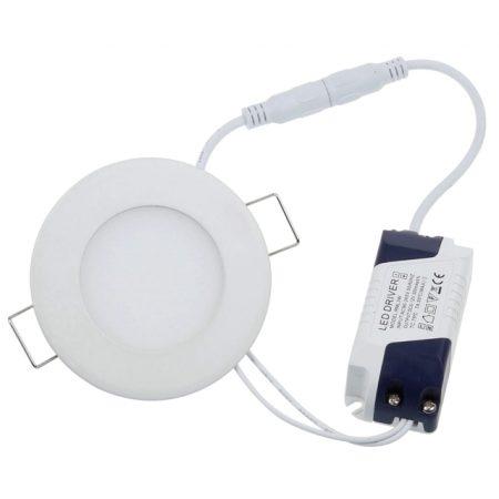 Beépíthető kör LED mini panel 3W