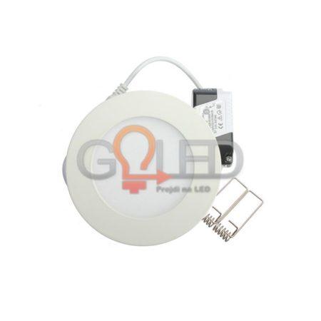 Beépíthető kör LED panel 6W