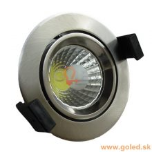 Prémium beépíthető króm kör LED lámpa 8W