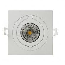 Prémium beépíthető forgatható fehér négyszög LED lámpa 12W