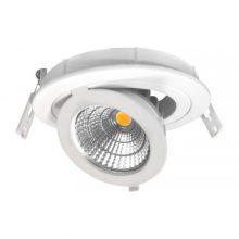 Prémium beépíthető forgatható fehér kör LED lámpa 12W