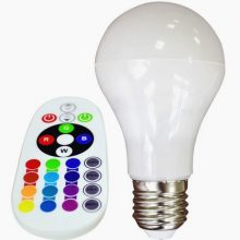 RGB+W LED izzó 6W távirányítóval