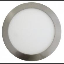 Szatén nikkel beépíthető kör LED panel 12W