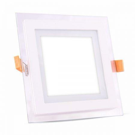Beépíthető üveg négyszög LED panel