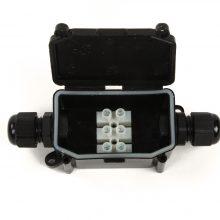 Vízálló csatlakozó doboz fekete