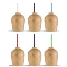Fa függeszték színes kábellel (6 szín)