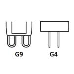 G4 és G9 foglalatok