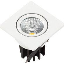 Beépíthető fehér négyszög LED lámpa 3W
