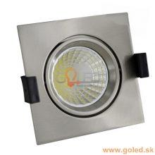 Prémium beépíthető króm négyszög LED lámpa 8W