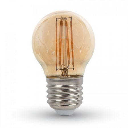Mini E27 borostyán LED filament izzó G45 4W