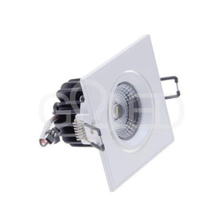Beépíthető forgatható fehér négyszög LED lámpa 3W