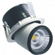 Beépíthető fekete kör LED lámpa 25W