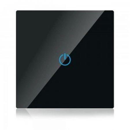 Fekete smart Wi-Fi érintős kapcsoló