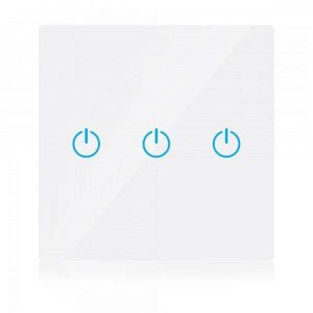 Hármas fehér smart Wi-Fi érintős kapcsoló