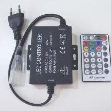 Tápkábel neon flex RGB LED szalaghoz 230V 2m RF távirányítóval