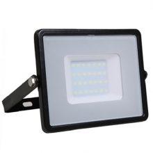 Professzionális fekete LED reflektor 50W magas fényerősséggel (120lm/W) SAMSUNG chipek