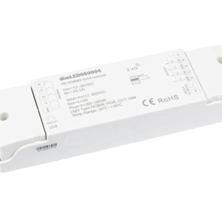 RF vevő távirányítóhoz RGB+W LED szalaghoz