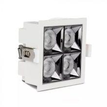 Beépíthető fehér négyszög LED lámpa 16W 38° SAMSUNG chipek CRI90