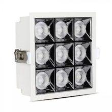 Beépíthető fehér négyszög LED lámpa 36W 38° SAMSUNG chipek CRI90